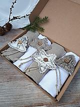 Úžitkový textil - Sada obrúskov Natur Christmas - 11226940_