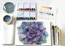 Kurzy - WORKSHOP akvarelovej maľby, SUKULENTY - 11223525_