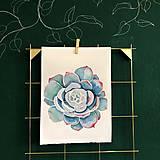Kurzy - WORKSHOP akvarelovej maľby, SUKULENTY - 11223531_