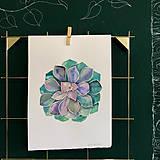Kurzy - WORKSHOP akvarelovej maľby, SUKULENTY - 11223549_