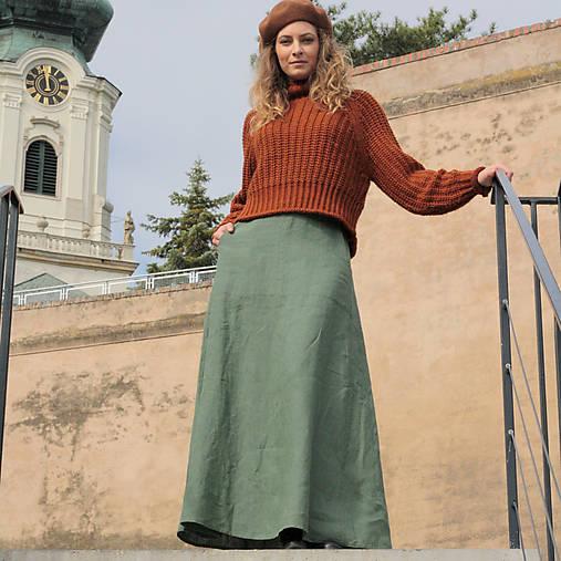 Sukne - Ľanová sukňa Alica - 11229949_