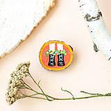 Odznaky/Brošne - Ručně malovaná brož - boty na korálové - 11228559_