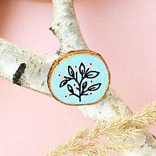 Odznaky/Brošne - Ručně malovaná brož - světle modrá - 11228511_