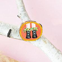 Odznaky/Brošne - Ručně malovaná brož - boty na korálové - 11228552_