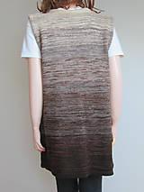 Iné oblečenie - Vesta - zapínací - nugátový melír - 11229343_