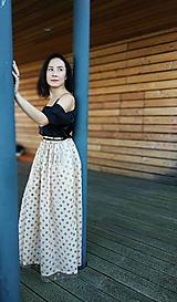 Šaty - Set: blúzka čierna / dlhá bodky.sukna - 11228183_