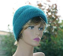 Čiapky - Luxusná čiapka v smaragdovej - 11229081_