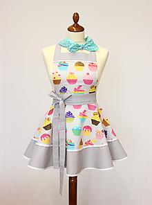 Detské oblečenie - detská zásterka Cup-cake - 11231288_