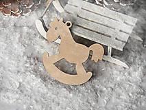 Dekorácie - Vianočná ozdoba hojdací koník (Vzor I) - 11230464_