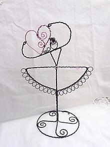 Dekorácie - baletka...šperkovnica - stojan (2) - 11230206_