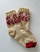 Obuv - Ponožky farmárske-ručne pradená ovčia vlna a kozí mohér,vzor Novohrad - 11229518_