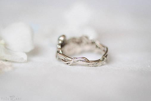 Zlatý prsteň s pierkom a akvamarínom - S tebou