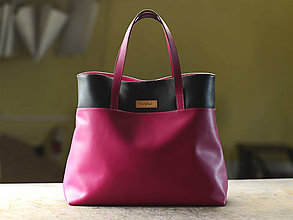 Nákupné tašky - Diva- nákupná kožená taška - 11230445_