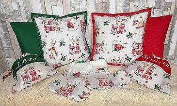 Úžitkový textil - Vianocne vankuse a mikulasske vrecka - 11231071_