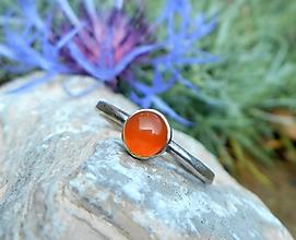 Prstene - Strieborný Prsteň s Karneolom - 11228887_