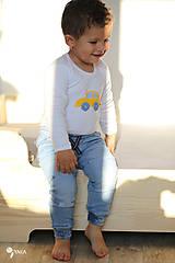 Detské oblečenie - body AUTÍČKO (dlhý/krátky rukáv) - 11230671_