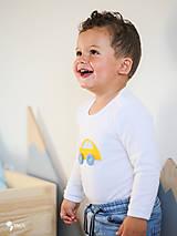 Detské oblečenie - body AUTÍČKO (dlhý/krátky rukáv) - 11230673_