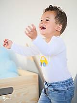 Detské oblečenie - body AUTÍČKO (dlhý/krátky rukáv) - 11230674_