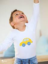 Detské oblečenie - body AUTÍČKO (dlhý/krátky rukáv) - 11230676_