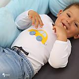 Detské oblečenie - body AUTÍČKO (dlhý/krátky rukáv) - 11230677_