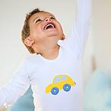 Detské oblečenie - body AUTÍČKO (dlhý/krátky rukáv) - 11230678_