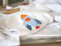 Detské oblečenie - body RAKETA (dlhý/krátky rukáv) - 11230809_