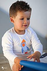 Detské oblečenie - body RAKETA (dlhý/krátky rukáv) - 11230823_