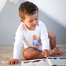 Detské oblečenie - body RAKETA (dlhý/krátky rukáv) - 11230808_