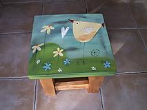 Nábytok - Detská maľovaná stolička - 11228035_
