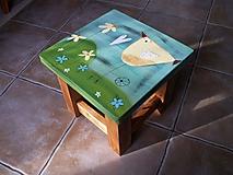 Nábytok - Detská maľovaná stolička - 11228036_