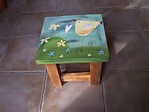 Nábytok - Detská maľovaná stolička - 11228042_