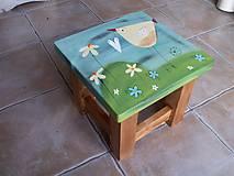 Nábytok - Detská maľovaná stolička - 11228043_