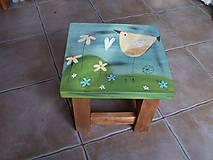 Nábytok - Detská maľovaná stolička - 11228044_