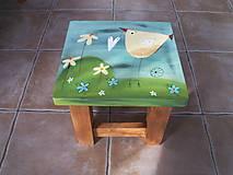 Nábytok - Detská maľovaná stolička - 11228083_