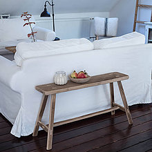 Nábytok - lavica III. z dubového dreva / príručný stolík - 11227619_