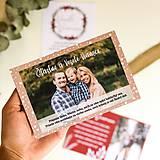 Papiernictvo - Vianočné personalizované pohľadnice - 11228395_