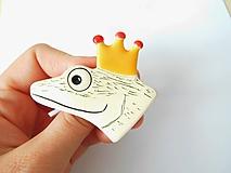 Odznaky/Brošne - Princ žabiak brošňa - 11227823_