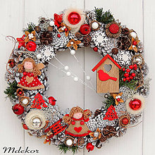 Dekorácie - Vianočný veniec Zimná rozprávka II - 11230166_