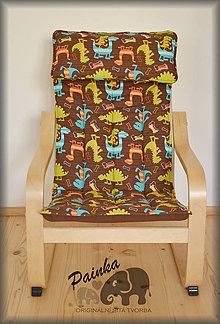 Úžitkový textil - Potah na dětské křesílko Ikea Poang (USA látka) bez polštářku - 11227648_