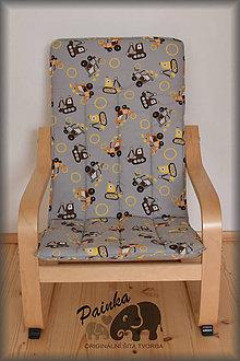 Úžitkový textil - Potah na dětské křesílko Ikea Poang (zahraniční látka) bez polštářku - 11227726_