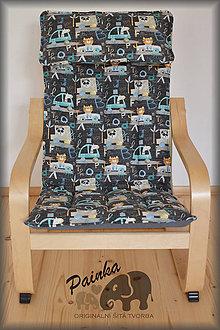 Úžitkový textil - Potah na dětské křesílko Ikea Poang (zahraniční látka) s polštářkem - 11227740_