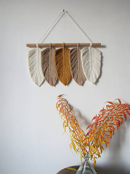 Dekorácie - Makramé závesná dekorácia INDIANSUMMER - 11227907_