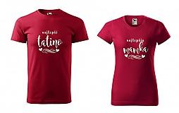 Tričká - Najlepší tatino / Najlepšia mamka - tričká pre rodičov - 11230117_