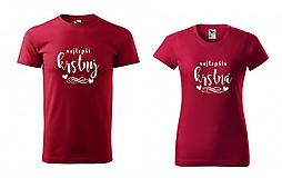 Tričká - Nejlepší krstný / Najlepšia krstná - sada tričiek - 11230129_