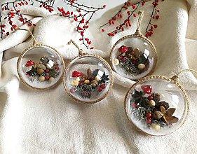 Dekorácie - Vianočné gule 4 ks muchotrávky - 11228950_
