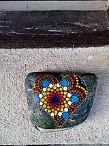 Dekorácie - Láska, nebe, peklo, ráj... - Na kameni maľované - 11229008_