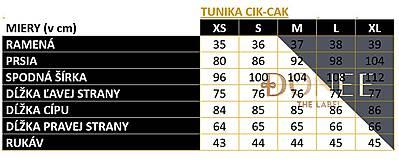 Topy - TUNIKA CIK-CAK NA DOJČENIE - ZELENO-MODRÁ - 11229230_