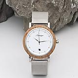- Barrique Grapevine drevené hodinky s kovovým remienkom - 11228856_