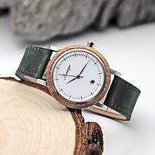 Náramky - Barrique Grapevine drevené hodinky s koženým remienkom - 11228876_
