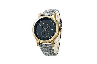 Náramky - Barrique Alpin pánske drevené hodinky čierne - 11228988_